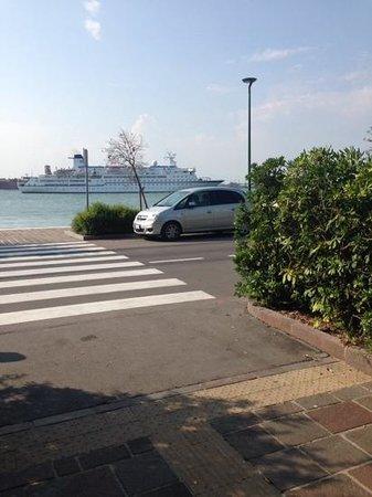 Hotel Villa Mabapa: a Cruise Ship Sailing Past The Front Of The Hotel