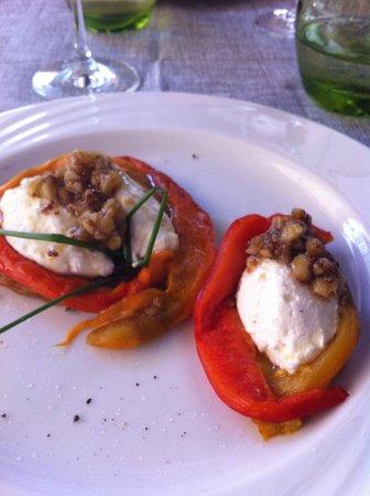 BillyBau Bar & Restaurant : Peperoni con frachet e peto di noci e miele