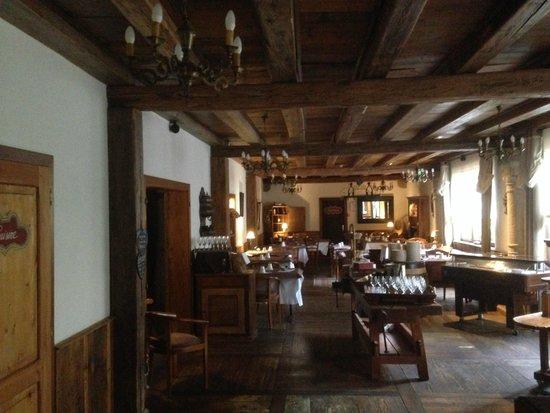 Hostellerie a la Ville de Lyon : Salle petit dejeuner