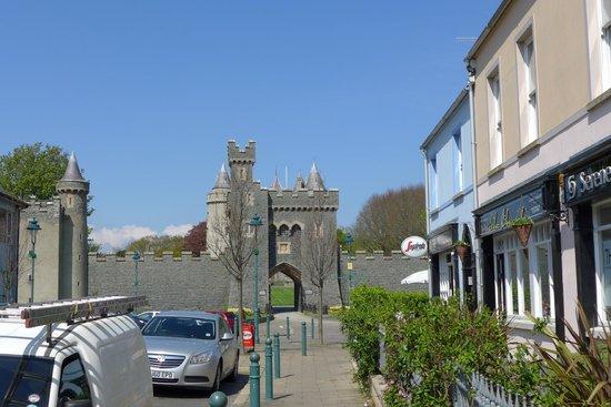 Dufferin Coaching Inn: View from front door (Killyleagh Castle)