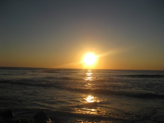Camping des Baleines : coucher de soleil