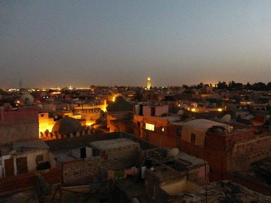 Marrakech by night, de la terrasse Ben Youssef