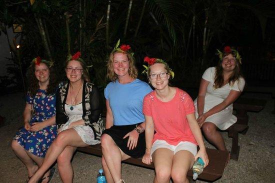 Hideaway Island Resort: Melanesian Feast (excuse the sunburn)