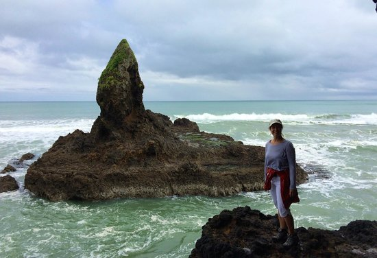 Bethells Beach Cottages: Hiking along the coastline south