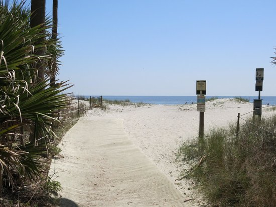 Hunting Island State Park Campground: Trail to beach