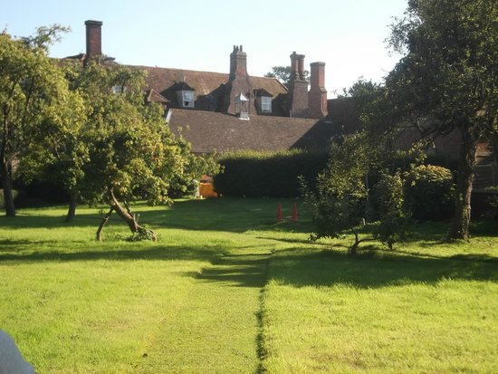 Hintlesham Hall: Hotel from Orchard/Veg garden