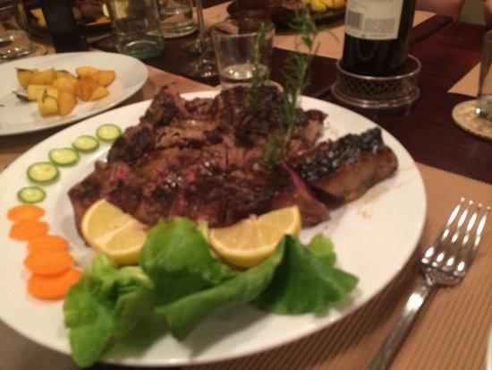 Osteria di Montegonzi: Steak florentine