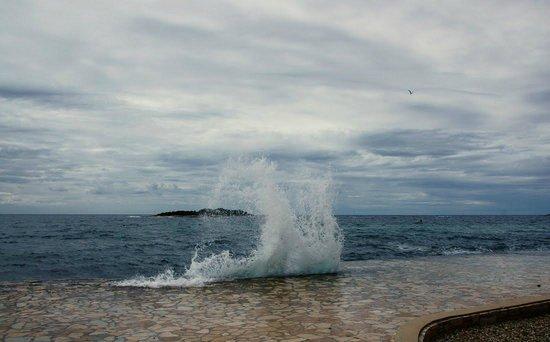 Hotel Delfin: ветреный день
