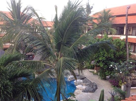 The Tanjung Benoa Beach Resort - Bali: looking down at the pool from my balcony