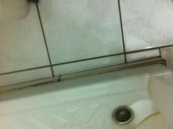 Hersonissos Palace Hotel: Shower with black mould around it
