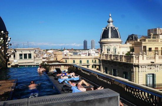 view from the rooftop picture of hotel ohla barcelona barcelona rh tripadvisor co za