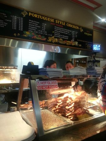 Petersham Charcoal Chicken: the busy Frango counter