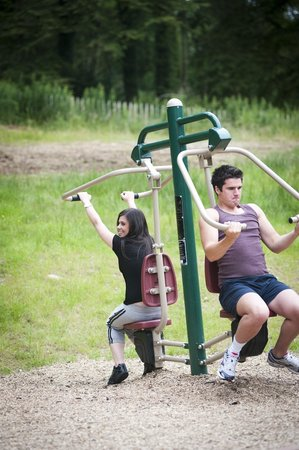 Condado de Armagh, UK: Adult Fitness, Slieve Gullion Forest Park Adventure Playpark