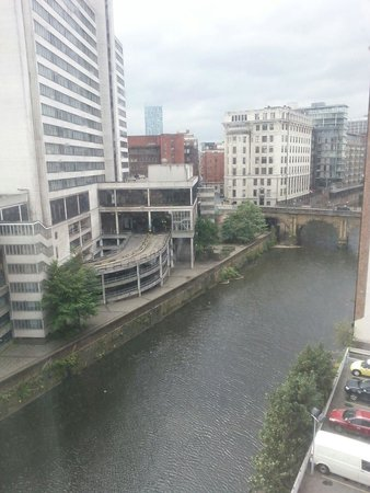 Premier Inn Manchester City Centre (Arena/Printworks) Hotel: View from room.