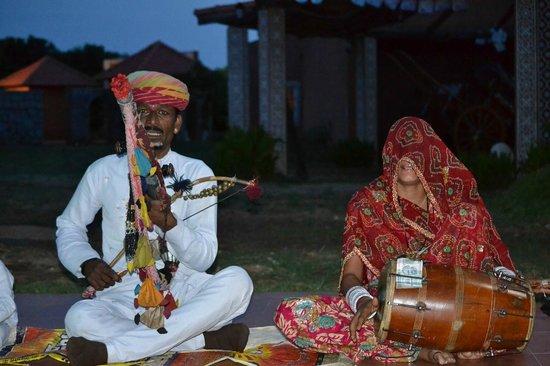 Vijayshree Resort & Heritage Village: Rajasthani Music