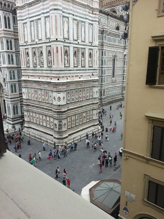 Hotel Bigallo: View from our bedroom window of the Duomo in Florence