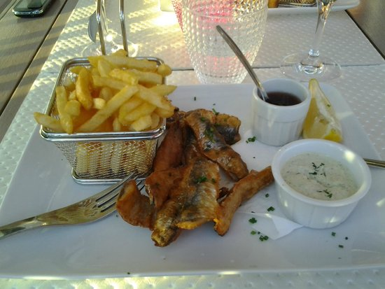 Hissez O : fish and chips de sardines