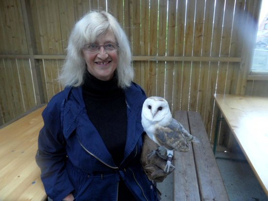 Woodside Wildlife Park: being introduced to the birds