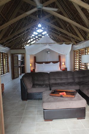Inside Kate and Williams bungalow no 1