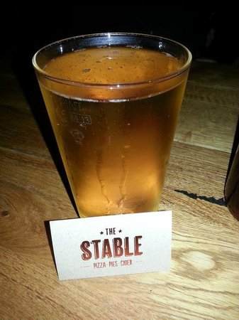 The Stable: A nice cold pint of cider