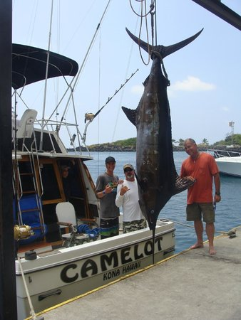 Camelot Sport Fishing: First-Mate Christopher, Captain Robert, and Mark