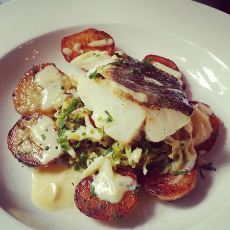 Madder Kitchen: Cod with savoy cabbage and sauteed potatoes