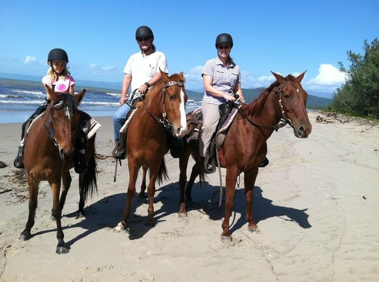 Bana  Bama  Horse Rides: Turbo, Bella, and Maverick on Wonga Beach (photo taken by our guide, Chelsea)