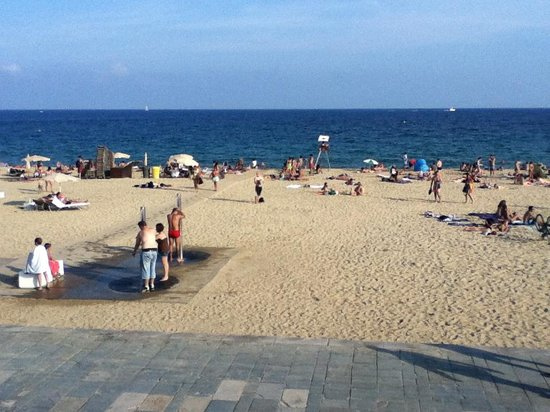ILUNION Barcelona : Tiny portion of the expanse of beach