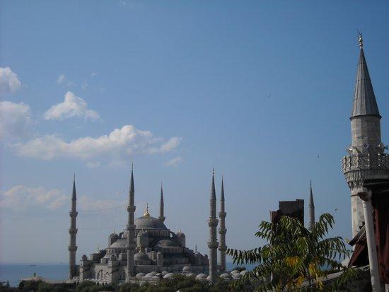 Nomade Hotel : dalla terrazza la moschea blu