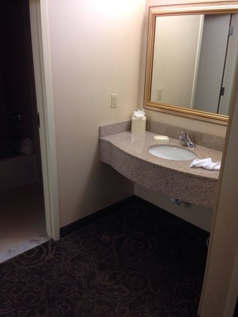 Hampton Inn & Suites Baltimore Inner Harbor: Sink outside bathroom