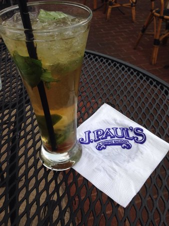 J. Paul's - Baltimore: J Paul special mojito w brown sugar and bourbon.  So tasty!!!!