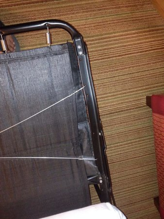 Residence Inn San Diego Mission Valley : This was on the other side of the frame that was loose.. The maintenance person had put it back