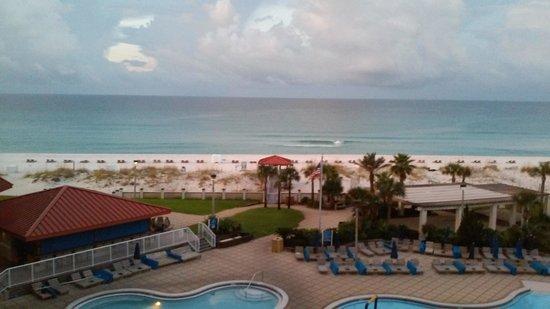 Hilton Pensacola Beach: gulf view from balcony
