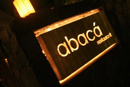 Abaca Restaurant: Entrance