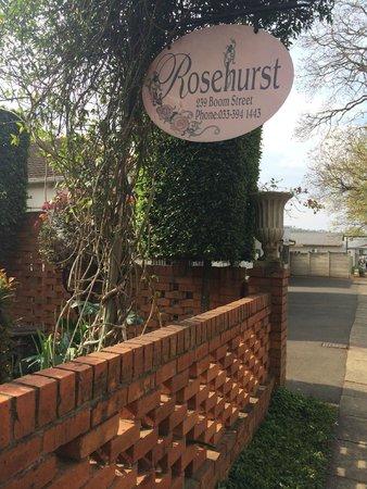 Rosehurst: Sign outside the house