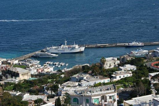 Albergo La Prora: Porto di Capri, dalla mia camera, sul lato nord.