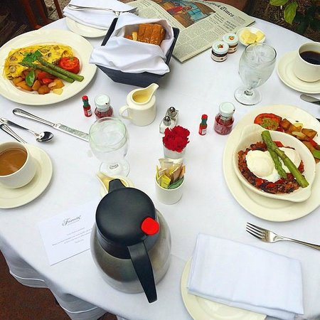 Fairmont San Jose : In-room dining on the patio
