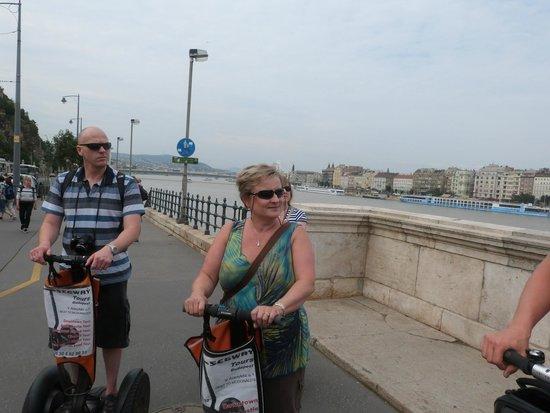 Segway Tours Budapest : Riverside rolling along