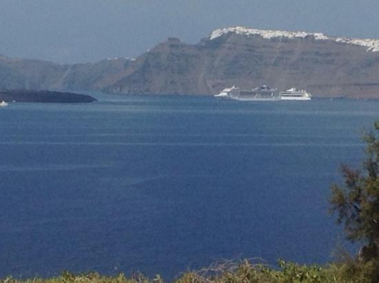 Santa Irini Hotel : vue depuis Akrotiri