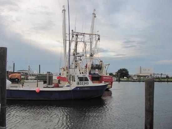 Fisherman's Wharf Restaurant: fishing boats outside restaurant!