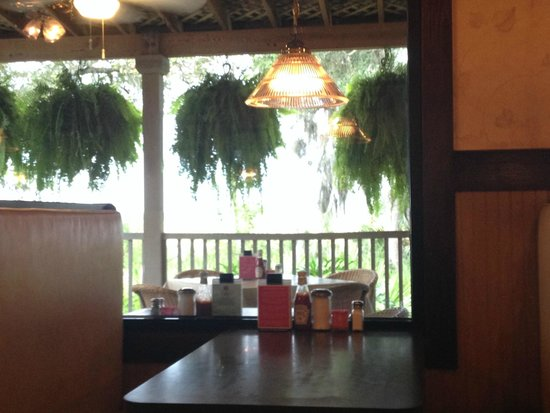 Barbara Jean's Restaurant : view of dining room and outdoor seating area
