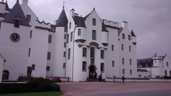 Blair Castle and Hercules Gardens: The front off Blair castle.
