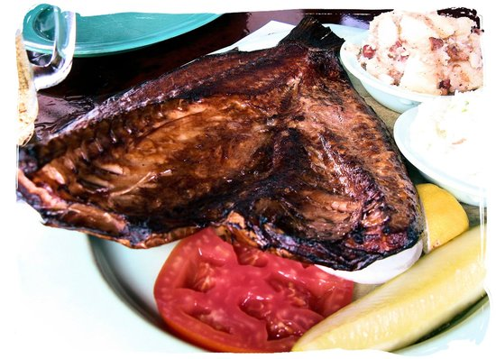 Smoked mullet of course picture of ted peters famous for Ted peters smoked fish