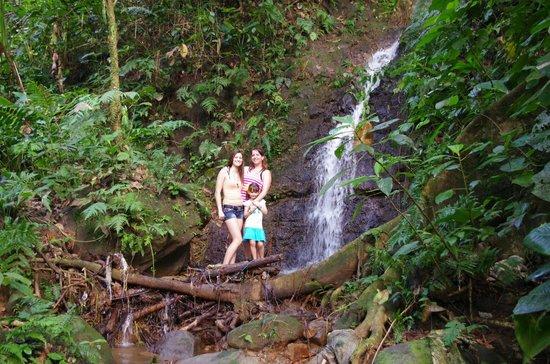 Princesa de la Luna Eco Lodge: Closest waterfall (bottom half)