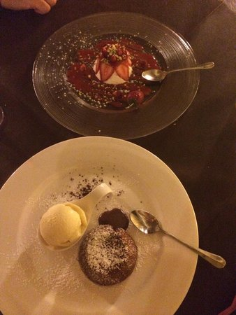 Osteria RossoDiVino: Chocolate soufflé and Lulu