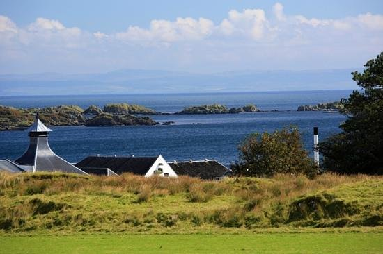 Ardbeg Distillery. View from road
