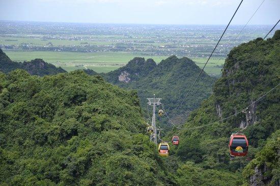 Travel Sense Asia: Swiss lift to mountain top view of Hanoi far away