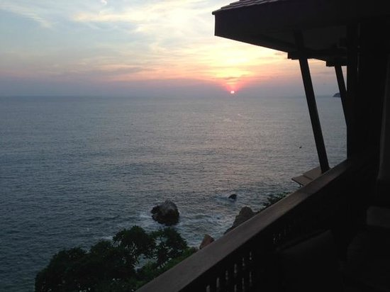 Banyan Tree Cabo Marques: View of sunset from patio