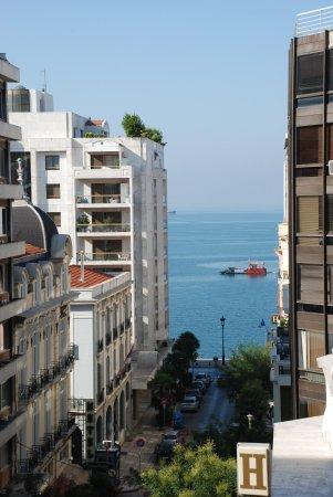 City Hotel Thessaloniki: Vue mer depuis 5 ème étage