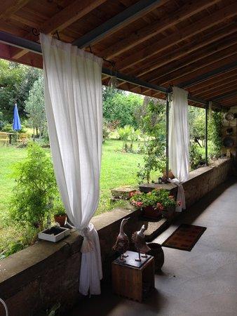 la terrasse abritée ! - Picture of Domaine Mongiron, Nerigean ...